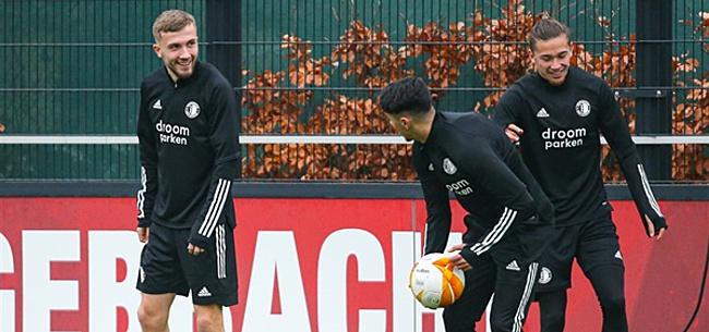 Foto: 'Feyenoord-nieuweling Baldé wekt verbazing op training'