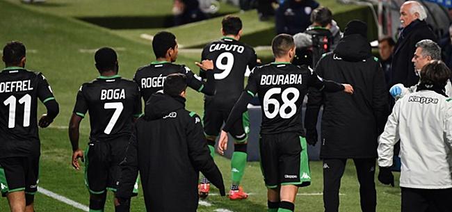 Foto: Spelers Sassuolo zoeken trainingsveld weer op