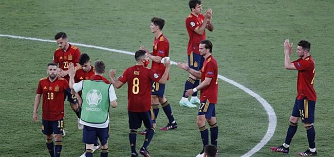 Foto: 'Oranje gaat fluitend door tegen Spanje'