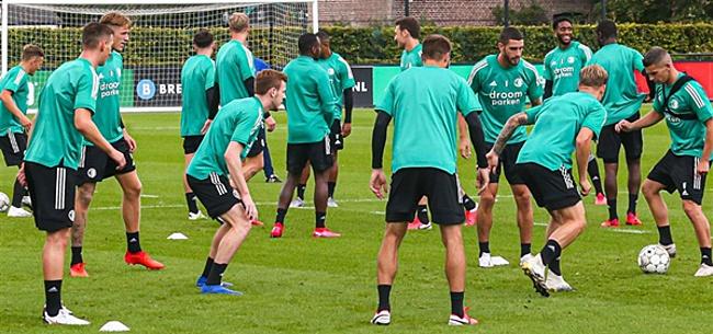 Foto: Feyenoorders kijken ogen uit op training: