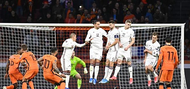 Foto: 'Oranje-internationals muiten na flater'
