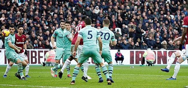 Foto: Arsenal incasseert pijnlijke tik bij West Ham United