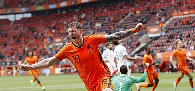 Foto: 'Wout Weghorst zorgt voor Oranje-rel'